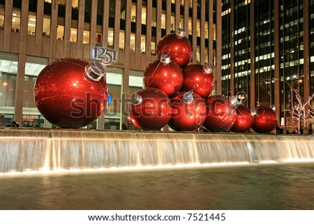 The Christmas decorations in Midtown Manhattan NYC