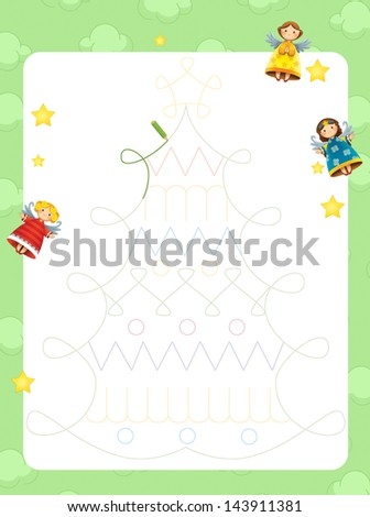 The christmas exercise for the children - bright and fun page
