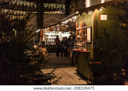 the christmas market in the city of Lienz in Austria