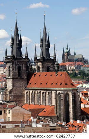 The Church of Our Lady Before Tyn in Prague, Czech republic