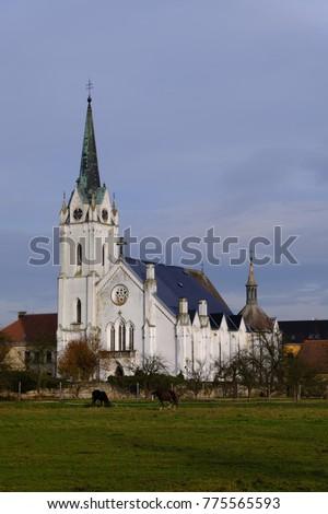The Church of Saints Fabian and Sebestian Zakupy, Czech republic Zdjęcia stock ©