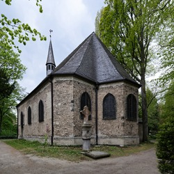The church of St. Mary Magdalene and Lazarus in the Cologne cemetery Melaten from the year 1245