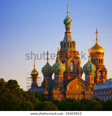 The Church of the Resurrection of Jesus Christ at St Petersburg in Russia also known as Savior-on-the-blood.