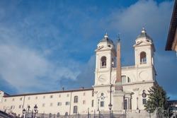 The church of the Santissima Trinità dei Monti,  Rome, central Italy.