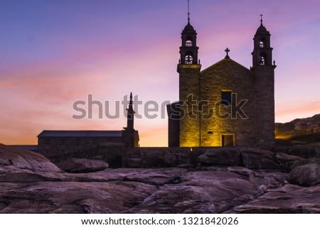 The Church of Virgen de la Barca, Muxia, Galicia, Spain Zdjęcia stock ©