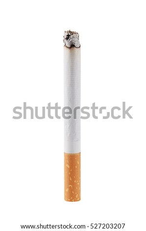 The cigarette isolated on a white background ストックフォト ©
