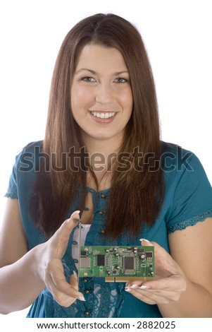 the circuit board - stock photo