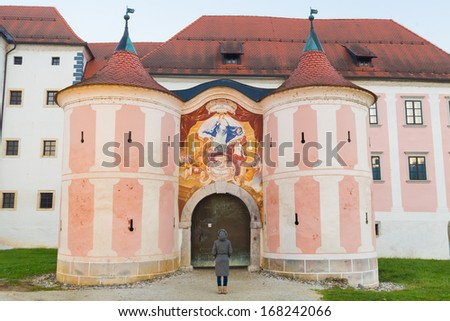 The Cistercian monastery Kostanjevica na Krki, homely appointed as Castle Kostanjevica, Slovenia, Europe. Stock photo ©