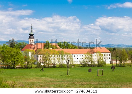 The Cistercian monastery Kostanjevica na Krki, homely appointed as Castle Kostanjevica, Slovenia, Europe. Stock photo ©
