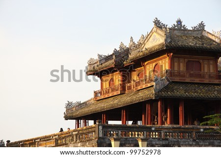 The citadel (emperors palace) in Hue, Vietnam