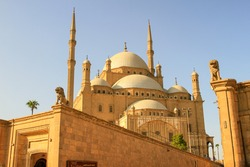 The Citadel of Cairo or Citadel of Saladin with blue sky, Cairo, Egypt