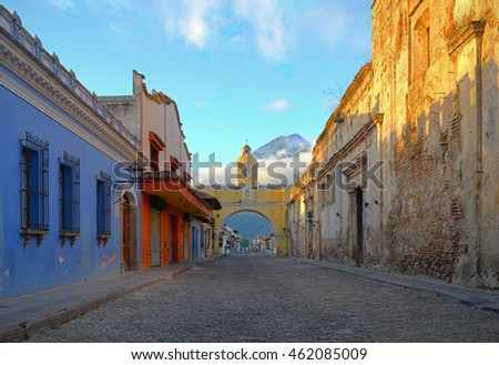 the city center of antigua with ...