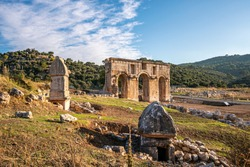 The city gate of Patara, which was a flourishing maritime and commercial city on the south-west coast of Lycia on the Mediterranean coast of Antalya, Turkey