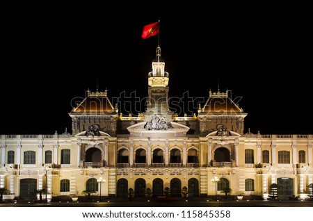 The city hall of Ho chi minh, capital of vietnam