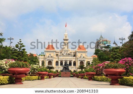 the city hall of ho chi minh in ...