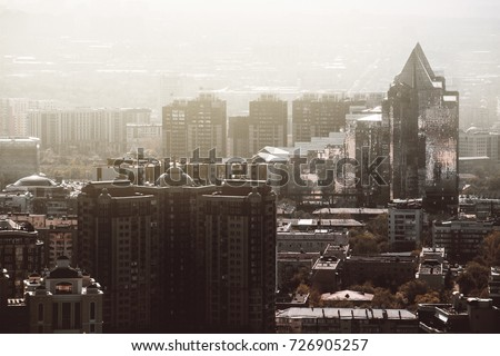 The city in the same tone #726905257