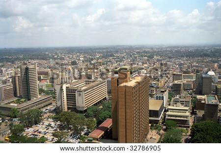 The city, Nairobi, Kenya