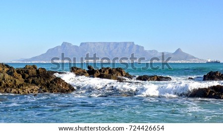 The City of Cape Town from Bloubergstrand #724426654