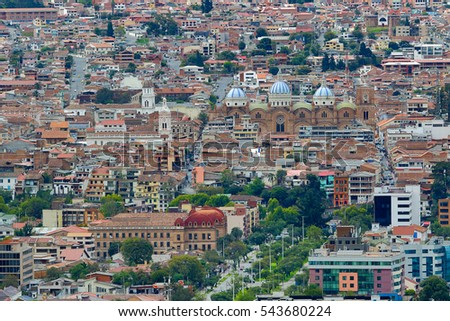 Shutterstock the city of Cuenca Ecuador seen from above
