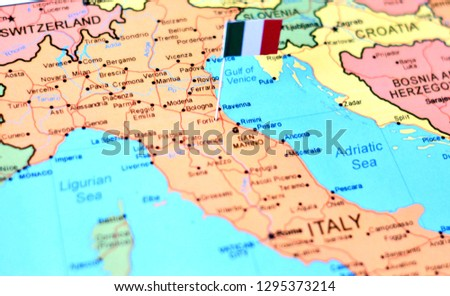 Forli Italy Map.Shutterstock Puzzlepix