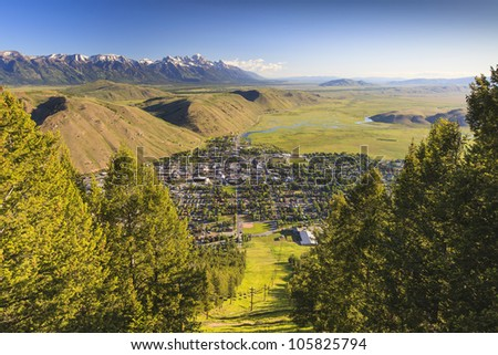 The city of Jackson Hole