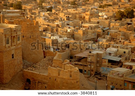 The City of Jaisalmer in India