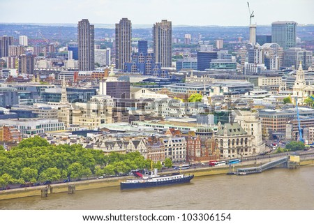THe city of London from the top