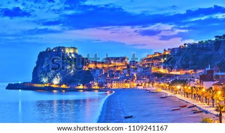 The city of Scilla in the Province of Reggio Calabria, Italy. #1109241167