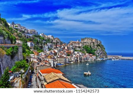 The city of Scilla in the Province of Reggio Calabria, Italy. #1154242573
