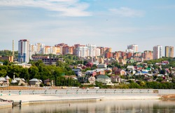The city of Ufa is the capital of Bashkortostan on the banks of the Belaya River.