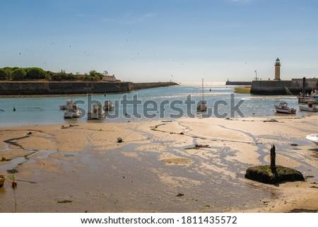 The city Saint-Gilles-Croix-de-Vie, in France, typical harbor Foto stock ©