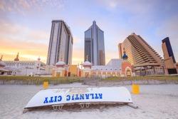 The city skyline  in Atlantic City, New Jersey.