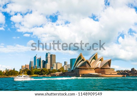 The city skyline of Sydney, Australia. Circular Quay  #1148909549