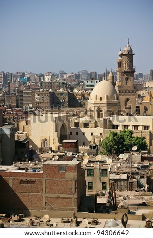 The cityscape of Old Cairo. Egypt.