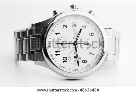 the classic wrist watches on white background