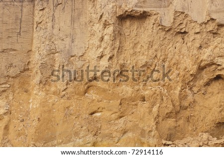 The clay wall. Background.