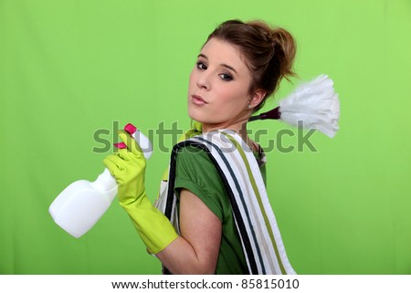 The cleaning green fairy