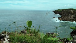 The cliffs beside the sea