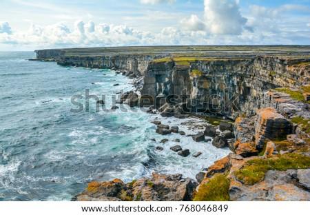 The cliffs of Inishmore, Aran Islands, Ireland