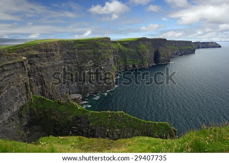The Cliffs of Moher in the republic of Ireland.