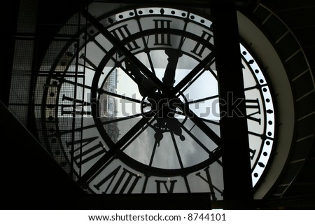 The clock looking out from Musee d'Orsay