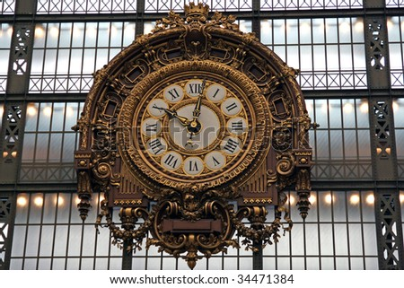The clock of the museum D'Orsay in Paris