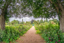 The Clos Normand house of Claude Monet garden Famous French impressionist painter 1840 1926 Giverny Normandy France.
