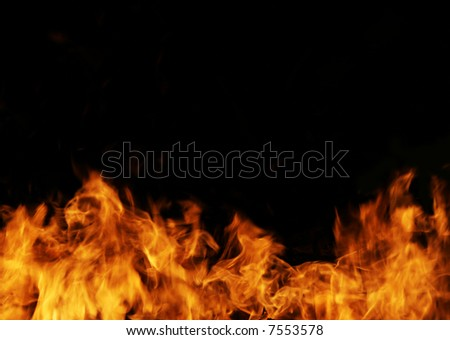 The close-up of a flame for a background