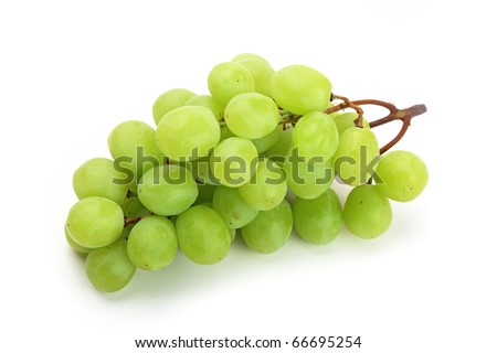 The close-up of tasty natural and fresh grapes. isolated on white