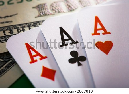 the close up of the poker cards