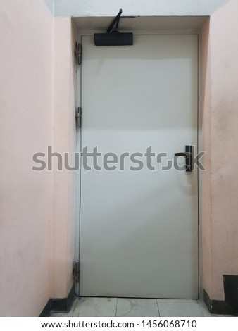 The closed door and nobody here