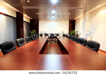 the closeup of Modern city meeting room - stock photo