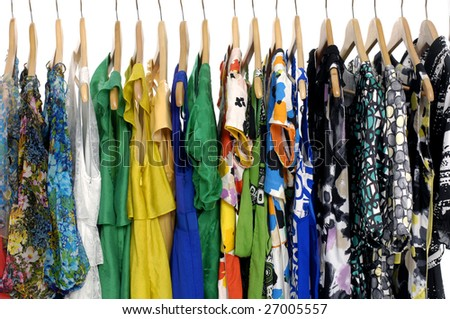 The  clothes hangs on a hanger