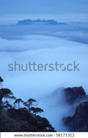 The cloud and mist of Sanqing mountain-Filming in  Jiangxi, China